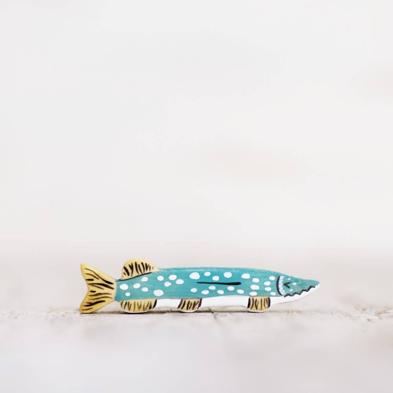 Lake fish toy, pike figurine