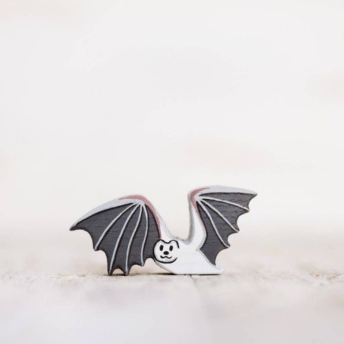 Wooden toy bat figurine