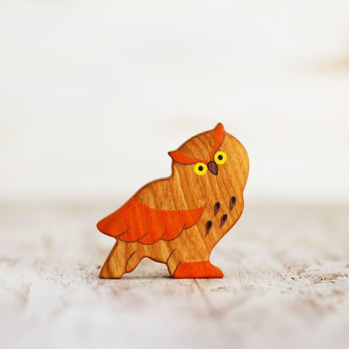 Wooden toy Owl figurine