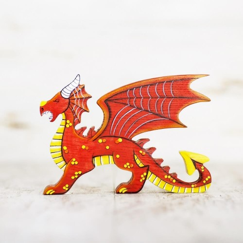 Wooden Red Dragon Toy