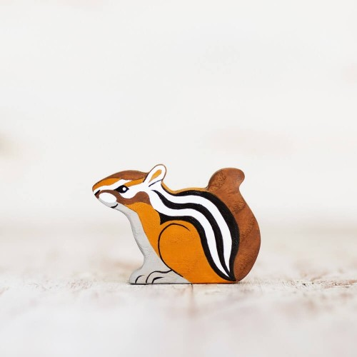 Wooden toy Chipmunk figurine