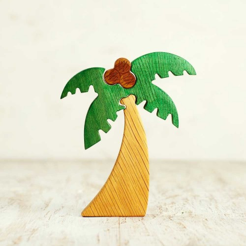 Wooden palm tree