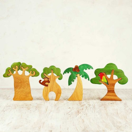 Waldorf Safari Tree Set (4 pcs)