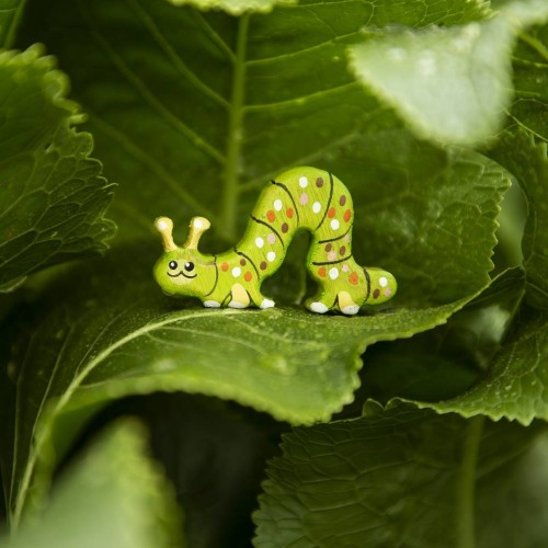 Toy caterpillar figurine