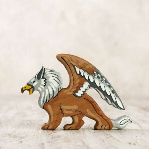 Wooden Griffin Figurine