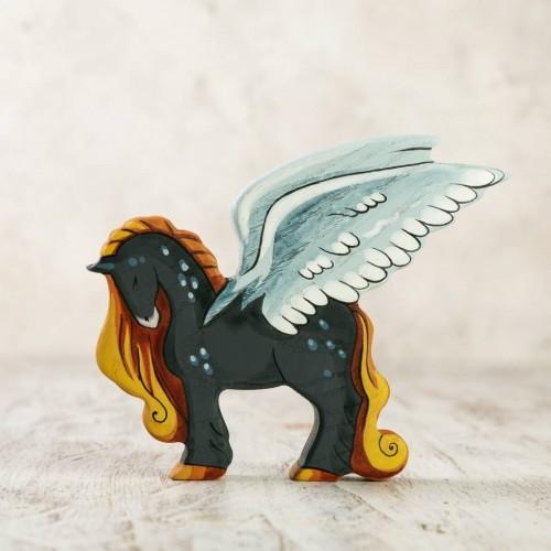 Wooden Pegasus figurine
