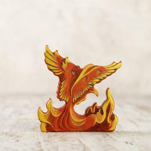 Wooden Phoenix figurine
