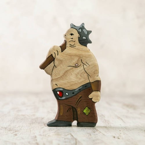Wooden Cyclops figurine