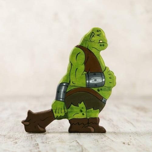 Wooden Goblin Figurine