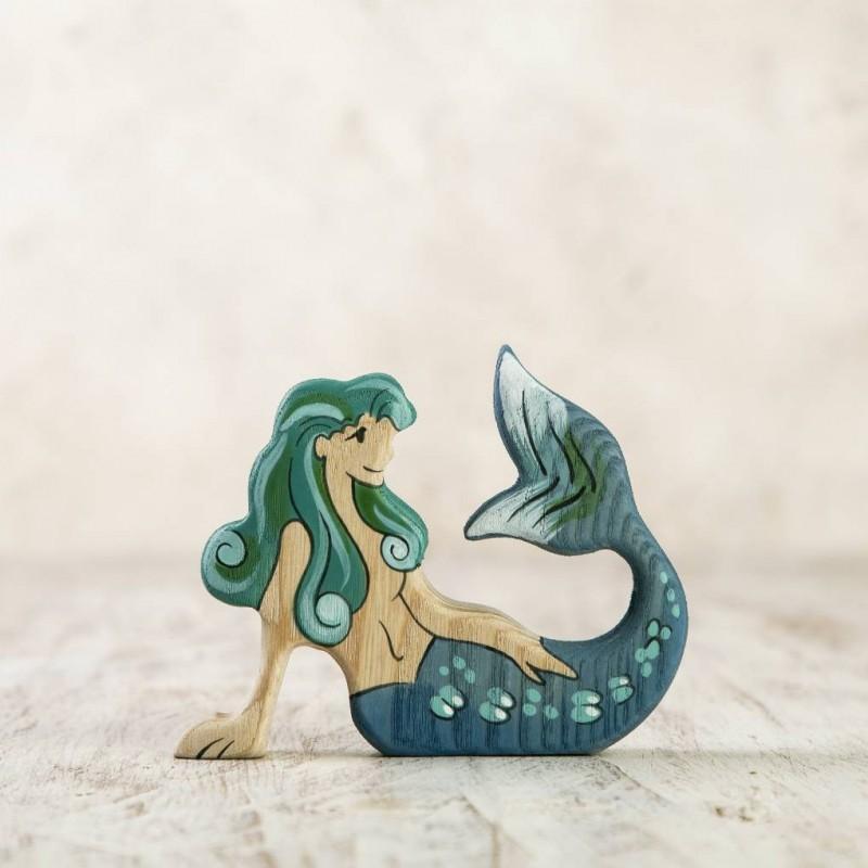 Wooden Mermaid figurine
