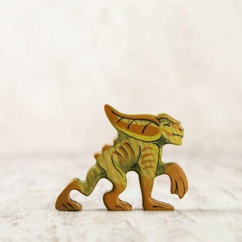 Wooden Gremlin figurine