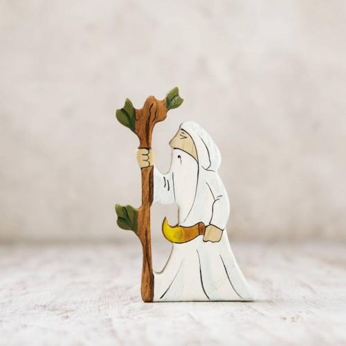 Wooden Druid figurine
