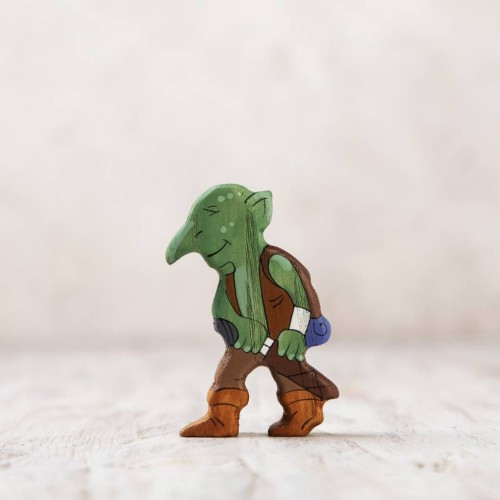 Wooden Troll Figurine