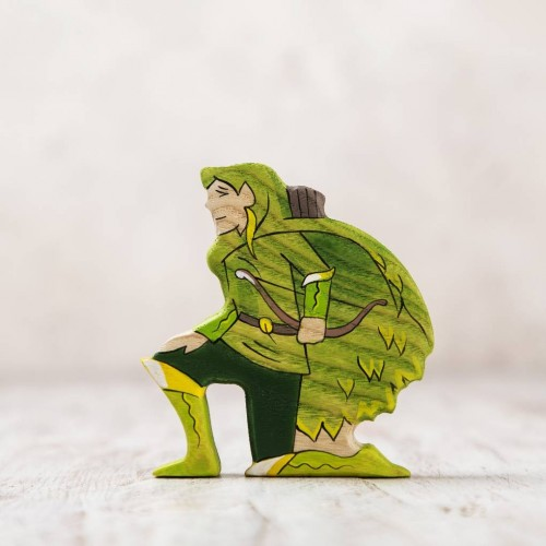 Wooden Elf Figurine