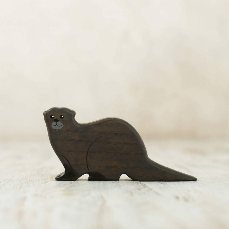 Wooden Otter figurine