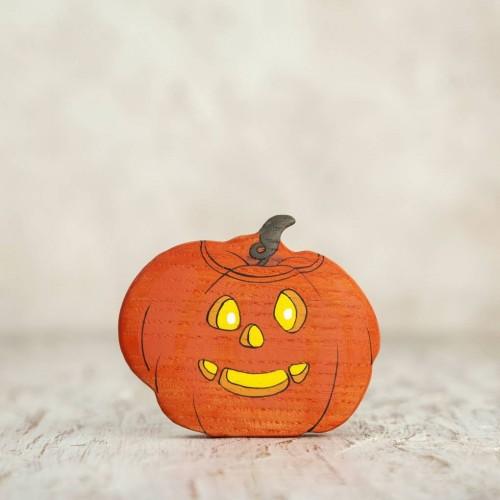 Wooden Jack-o'-lantern toy