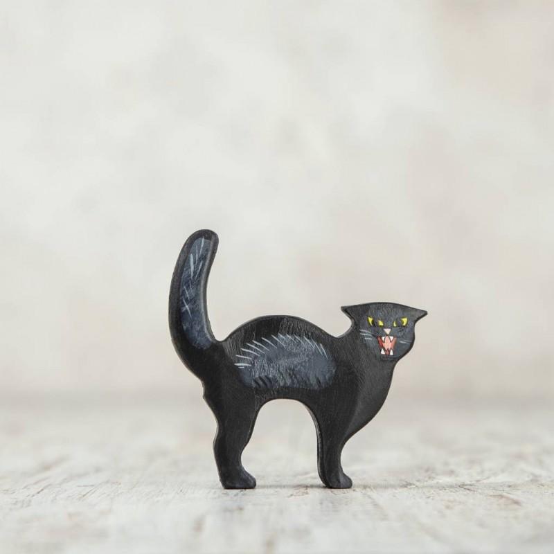 Wooden Black cat toy