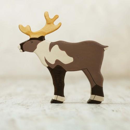 Wooden arctic reindeer toy