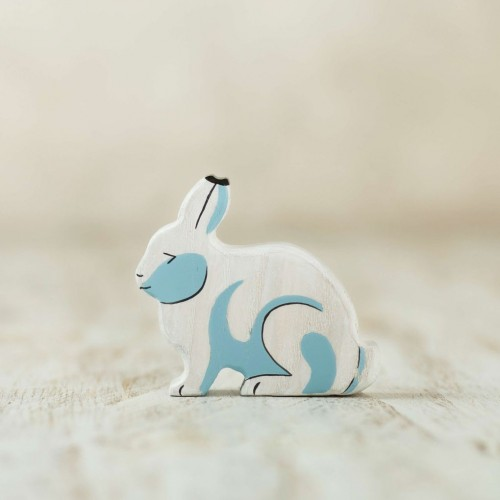 Wooden arctic hare toy