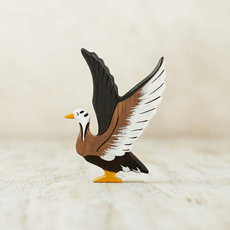 Wooden arctic goose toy