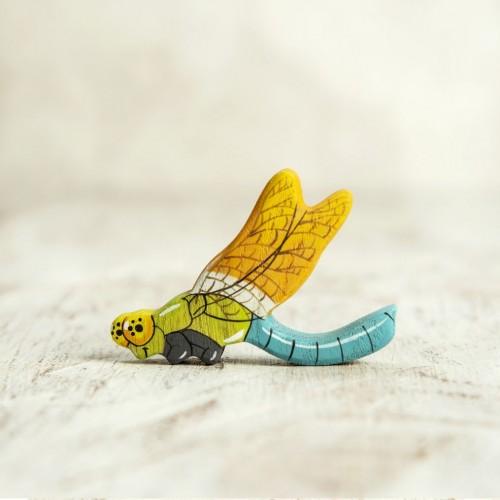 Wooden dragonfly figurine