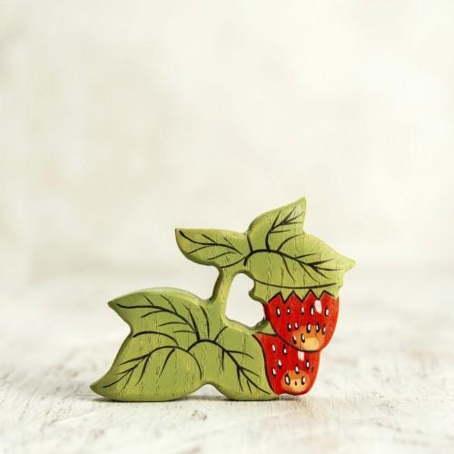 Wooden strawberry figurine