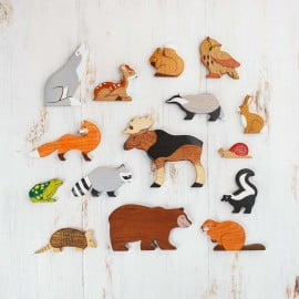 Wooden Toy Animals And Creatures
